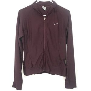 Women's Nike Long Sleeve Full ZIP Jacket Maroon